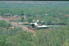 Borroloola government buildings from Water Tank Hill - Gulf Region